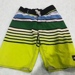 Men's striped swim trunks Sz 28